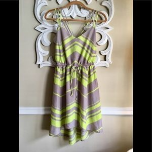 Sundress Gray & Neon Yellow *like new*